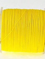 300M / 330 Yards Ligne tissée PE / Dyneema Ligne de Pêche Alose jaune 80LB 70LB 60LB 0.37mm,0.40mm,0.45mm mm PourPêche en mer Pêche à la