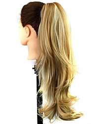 Claw Clip Synthetic 22 Inch Mix Blonde Long Curly Ponytail