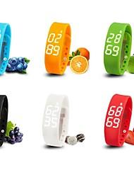 pulseira pulseira, funções W2 wearable inteligentes temperatura / 3d pedômetro / sono rastreador / temporizador (cores sortidas)