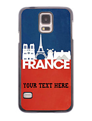 caja del teléfono personalizado - caja de metal francés paisaje diseño para i9600 Samsung Galaxy S5