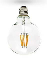Lampadine globo 6 COB ON A E26/E27 6 W Intensità regolabile 600 LM 2800-3200K K Bianco caldo AC 220-240/AC 110-130 V