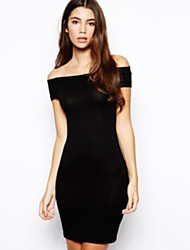 JFS Women's Sexy Off The Shoulder Fitted Dress