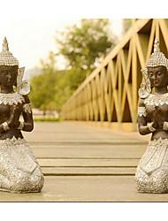 la nouveauté de la Thaïlande Bouddha contemplative décoration argent, résine