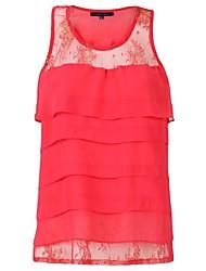 Oxygene Monde® Women's Layered Chiffon & Lace Vest