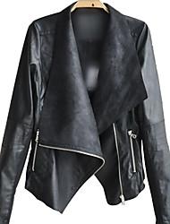 europeo abrigo solapa delgada de las mujeres clementes