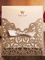 Einladungskarten ( Golden ) - Personalisiert