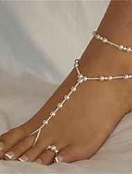 Elegant White Pearl Barefoot Sandal*1 piece for Wholesale