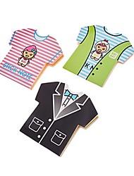 Colori camicia 5 a forma di auto-bastone della nota (colore casuale)