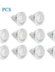 6W GU10 Faretti LED 3 LED ad alta intesità 310 lm Bianco caldo / Bianco AC 220-240 V 10 pezzi