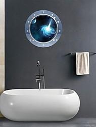 3d Stickers muraux stickers muraux, les merveilles de l'univers salle de bain décoration murale pvc stickers muraux