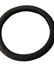 Rubber Environmental Fashionable Steering Wheel Decorative Cover for any Car ,Black,