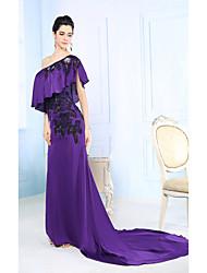 Sheath/Column One Shoulder Asymmetrical Evening Dress