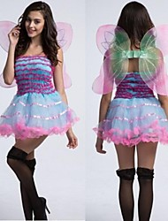 le costume d'Halloween de douce papillon rose femmes