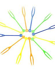 Colorful Disposable Plastic Fruit Forks,Random Color,4000Pcs/set