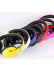 estilo de romance sobre a orelha fone de ouvido com microfone dobrável graves para os telefones (cores sortidas)