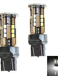 HJ 7443 10w 900lm 5500-6000k 30x2835 SMD LED Белый свет лампы для автомобилей стоп-сигнала (12-24В, 2 шт)