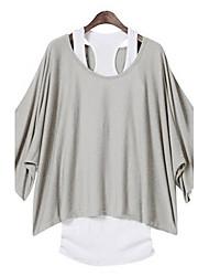 JFS Women's Casual Two Pieces Loose Fit T Shirt