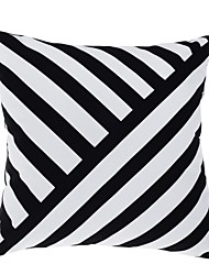 "Modern 18"" Square Striped Pillow Cover/Pillow With Insert"