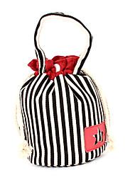 pocket feixe stripe saco de cosmética