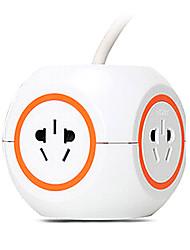 enchufe de extensión CHNT con enchufe gb 3m naranja cable de alimentación de CA.