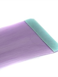 Long Straight Tapes Synthetic Extension 2 Pcs Light Purple