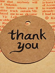 Thank You DIY Kraft Bonbonniere Gift Paper Hang Tags Lables Bakery Packaging Favors Wedding Cards(50pcs/set)