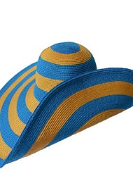 Beautiful Paper Rattan Straw Ladies Outdoor/Casual/Beach Hats With Long Brim
