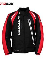 Motoboy Men's 3 Layers Waterproof and Warm Motorcycle Jacket 4 Season Wear with CE Protectors