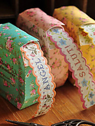 3pcs Rolls of Floral Paper Lace Decorative Sticker Tape Kids Birthday Gift Scrapbooking DIY Favors