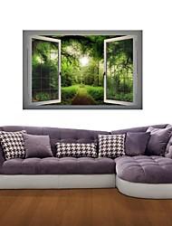 Adesivos de parede adesivos de parede 3d, parede floresta trilha decoração adesivos de vinil
