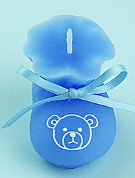 Blue Beer Baby Shoe Candle