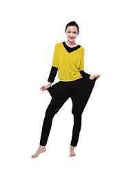 Yoga de la aptitud suelta de manga larga traje ropa