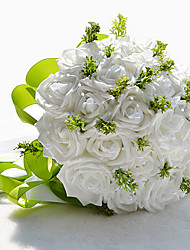 Beautiful Rose and Green Leaves Wedding Bouquet
