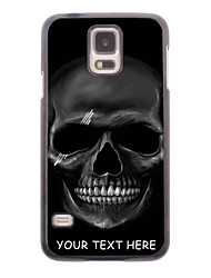 Personalized Phone Case - Black Skull Design Metal Case for Samsung Galaxy S5 I9600