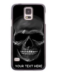 caja del teléfono personalizado - cráneo caja de metal de diseño negro para i9600 Samsung Galaxy S5