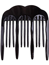 résine classique peignes noir de cheveux pour les femmes (noir, café)