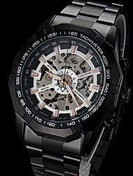 reloj automático de acero negro mecánico de línea hueco la venda de los hombres forsining® (colores surtidos)