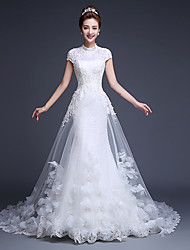 Ball Gown Wedding Dress Court Train Jewel Tulle