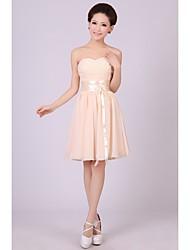 Short/Mini Bridesmaid Dress A-line/Princess Sweetheart