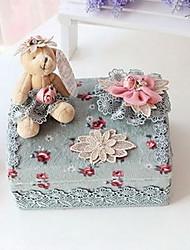 Corea del Sud principessa pizzo scatola panno cosmetici