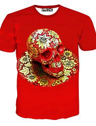 notch mannen bloemenprint causual mode korte mouw t-shirt