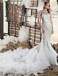 Vestido de Noiva - Branco Fit & Flare Um Ombro Só
