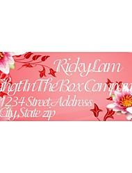 étiquettes de cadeau personnalisé / adresse étiquettes motif de fleur mignon papier film rose