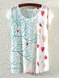 T-shirt - Casual/Stampa - Maniche corte - Sottile DI Misto cotone