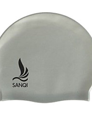 Sanqi Unisex Fashional Classic Waterproof Ear Protection Swimming Cap