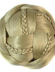 bun bobina do vintage chignon peruca (bege)