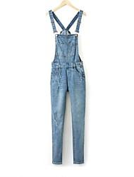 loose svago salopette di jeans tuta delle donne