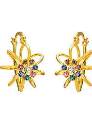 Yue Women's Causual Fashion Flower Earrings