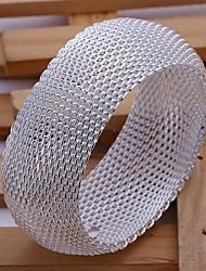 SSMN Women's Silver Plate Bracelet