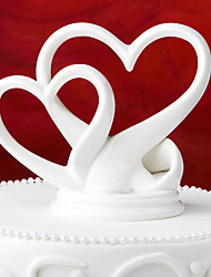 Cake Topper Non-personalized Ceramic White Gift Box
